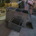 Bể tách mỡ công nghiệp inox dày 2 mm cho showroom ô tô Ninh Bình