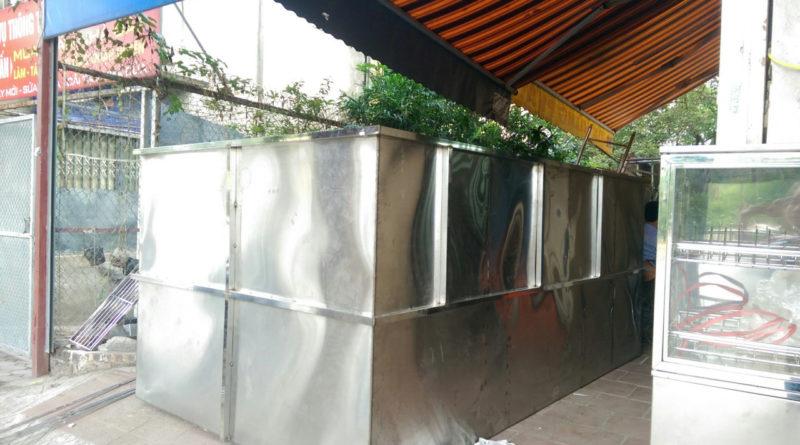 bể tách mỡ công nghiệp lắp đặt dưới hầm gửi xe