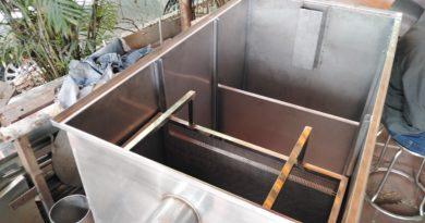 bể tách mỡ công nghiệp làm bằng inox