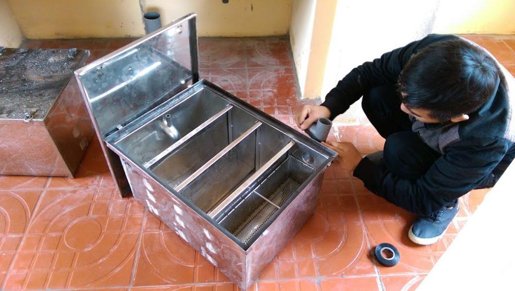 Mua bể tách mỡ nhà hàng nhỏ và vừa kích thước 60*40*40 cm