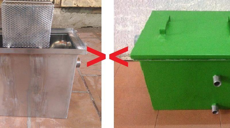 So sánh giá thành bể tách mỡ inox và bể tách mỡ compostie