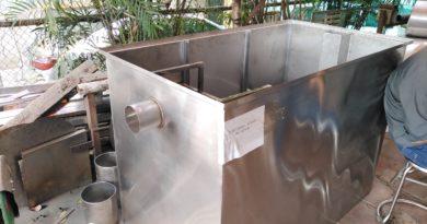 Bể tách mỡ công nghiệp Thái Nguyên làm bằng inox