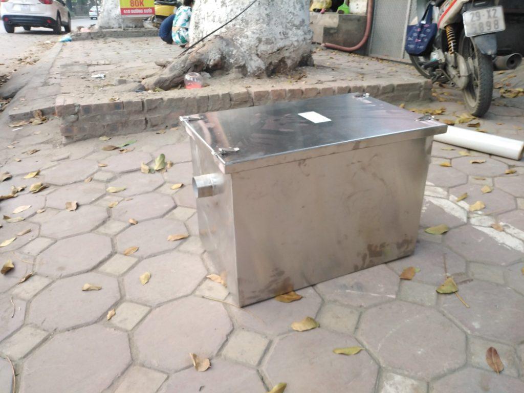 bể tách mỡ nhà hàng loại nhỏ làm bằng inox ở pHú Thọ