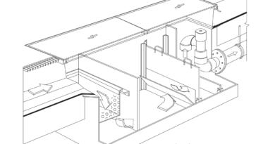 bản vẽ 3d bể tách mỡ bằng bê tông