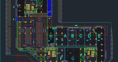bản vẽ diện tích mặt sàn một trung tâm thương mại bể tách mỡ