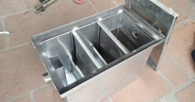 bể tách mỡ chung cư loại 20 lít lắp đặt riêng cho từng căn hộ