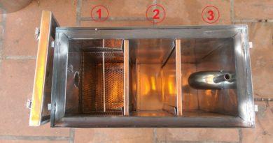 cấu tạo ba ngăn thùng lọc mỡ bếp nhà hàng