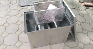 thùng tách mỡ inox nhà hàng