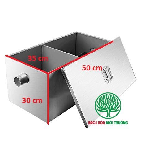 Bể tách mỡ có kích thước dài x rộng x cao = 50*35*30 cm