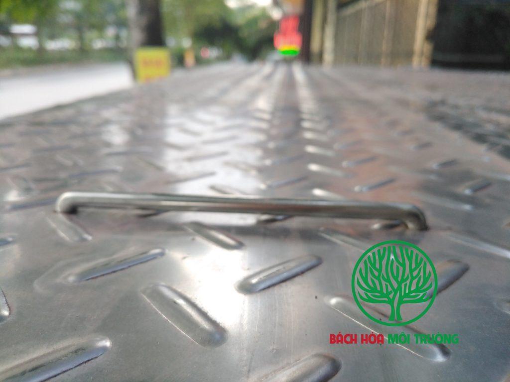 Bẫy mỡ âm sàn sử dụng inox nhám