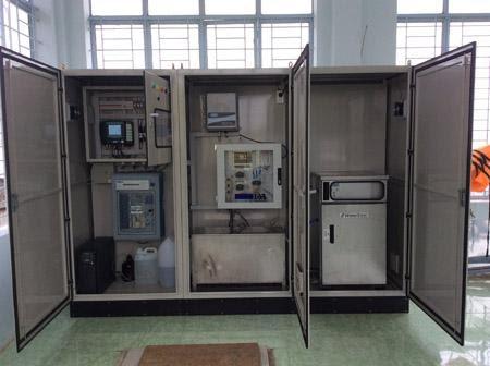 Mẫu thiết bị quan trắc nước thải tự động được dùng chủ yếu để theo dõi pH, COD và TSS