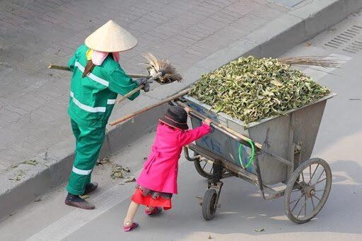 xe quét rác tự động sẽ thay thế phần lớn sức lao động của con người