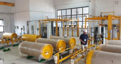 cánh khuấy sử dụng trong nhà clo để làm công trình xử lý nước thải