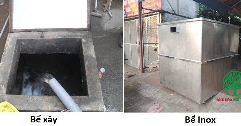 So sánh bể xây và bể inox