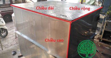 Bể vuông inox dùng để chứa nước