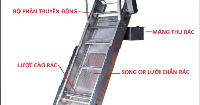 Cấu tạo của máy tách rác lược cào