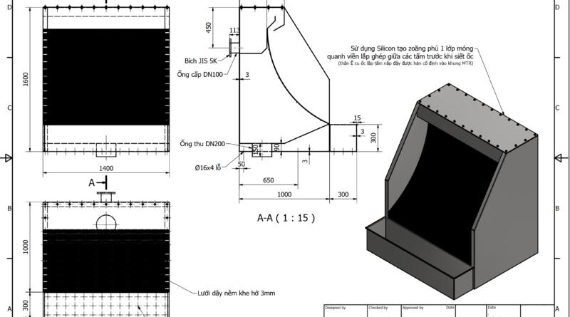file bản vẽ máy tách rác tĩnh 3D
