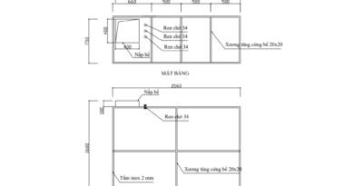 bản vẽ bể nước inox file PDF